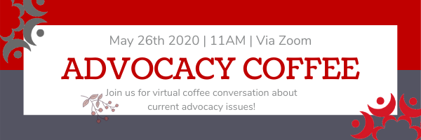 Register for today's Advocacy Coffee!