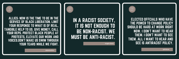 In a racist society, it is not enough to be non-racist. We must be anti-racist.