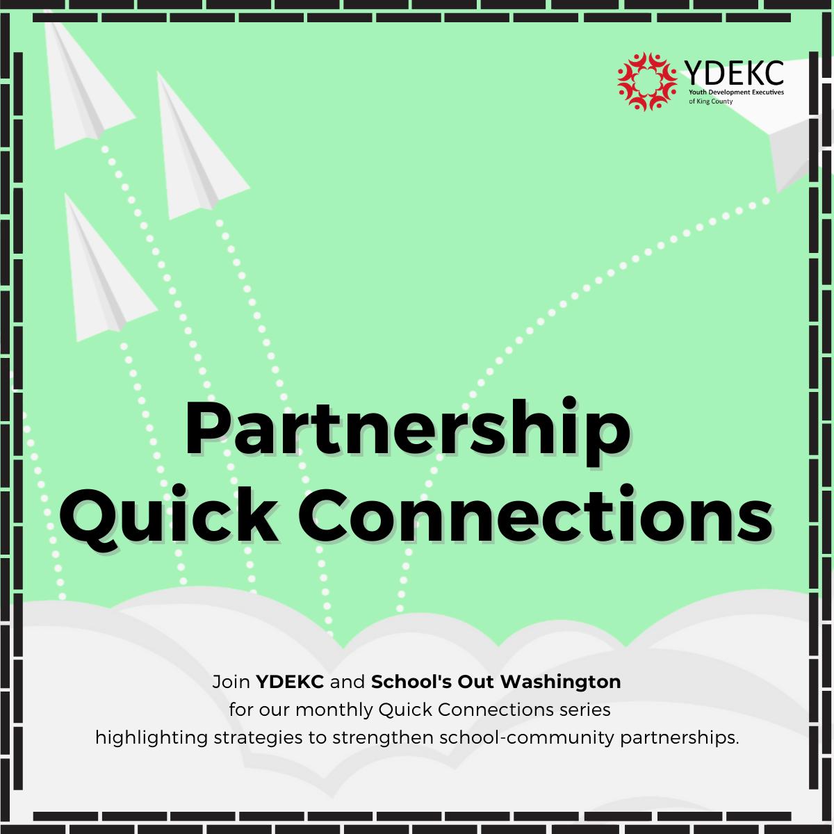 Flyer for Parternship Quick Connections - Part 7